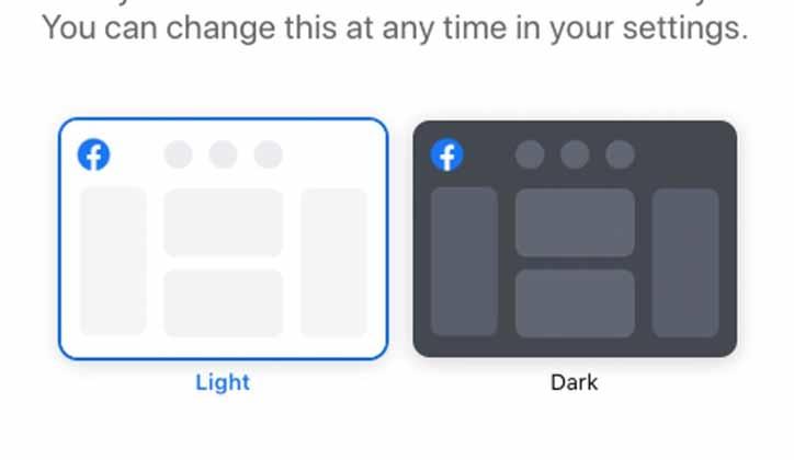 Modo Oscuro Diseño Facebook